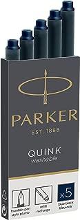 Parker 派克 墨水囊 QUINK 黑色 1950382 parent 本体サイズ:75mmx7mm/10g 蓝黑色