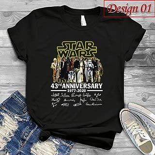 Star Wars 43rd Anniversary 1977-2020 Signatures Handmade Shirts