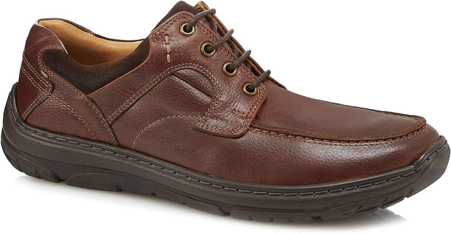 Henley Comfort Men Brown Leather 'District' Lace Up shoes