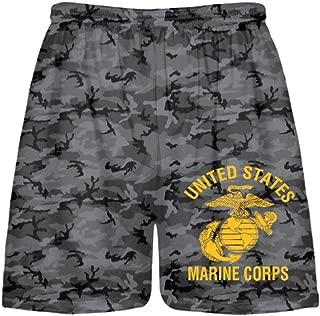 LightningWear Blackout Camouflage USMC Shorts - United States Marine Shorts - Camo Shorts