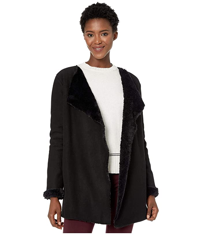 UGG  Abriana Shawl Cardigan (Black) Womens Clothing