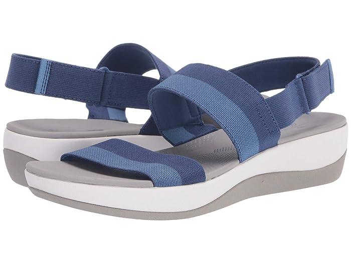 Clarks  Arla Jacory (Blue Striped Textile) Womens Sandals