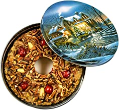 Ye Olde English Fruit & Nut Cake Kosher Fruitcake, Old World Traditional Recipe, Rich Butter Batter, No Alcohol, Finest Quality of Fruits and Nuts, Serves 12-16 Full 2 lb Ring in Collectible Tin