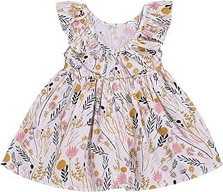 3913d61c677b Toddler Baby Girl Sun Dress Wildflower Floral Seaside Beach Dress Overall  Outfits Onepiece