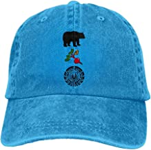 Quxueyuannan Bears Beets Battlestar Galactica Men's Black Adjustable Vintage Washed Denim Baseball Cap Dad Hat Trucker Cap