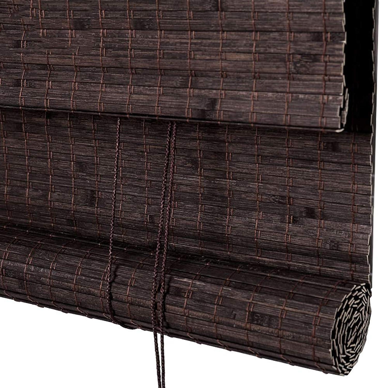 Persianas TH privacidad, enrollables de bambú, enrollables de filtrado de luz con Cenefa - Marrón Claro (Tamao   60×90cm)