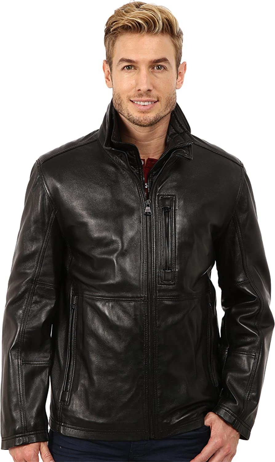 Marc New York by Andrew Marc Men's Mercer Smooth Lamb Leather Jacket