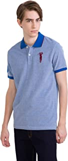 Shooter Mens Unique Short Sleeve Two-toned Polo Shirt