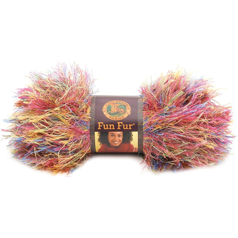 Lion Brand Yarn 320-206B Fun Fur Yarn, Confetti