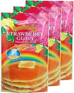 Hawaiian Sun Strawberry Guava Pancake Mix 6 Ounce Bag - (3 Pack)