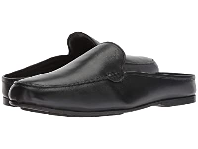 CARLOS by Carlos Santana Planeo Slide (Black Calfskin Leather) Men