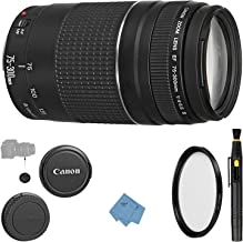 Canon EF 75-300mm f/4-5.6 III Lens + UV Filter + Lens Cleaning Pen + Lens Cap Keeper + Ultimate Cleaning Cloth - 75-300mm III: Lens