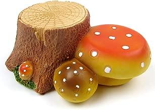 Alfie Pet - Shura Stump Mushroom Habitat Decor for Mouse, Chinchilla, Rat, Gerbil and Dwarf Hamster