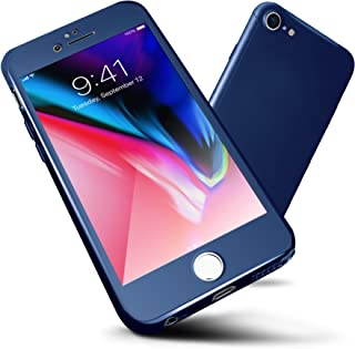 iPhone 6S Plus Case,ORETECH 6 Plus Case 360 Full Body Hard PC with[2 x Tempered Glass Screen Protector] Ultra-Thin Lightweight Shockproof and Anti-Scratch Case for iPhone 6 Plus/6s Plus -5.5
