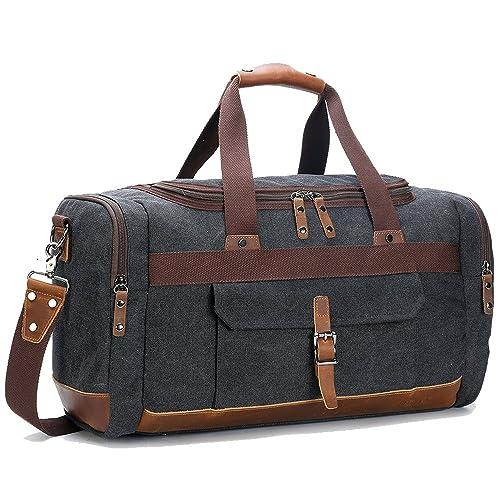 BLUBOON Canvas Travel Bag Unisex 44L d780dcfeb7