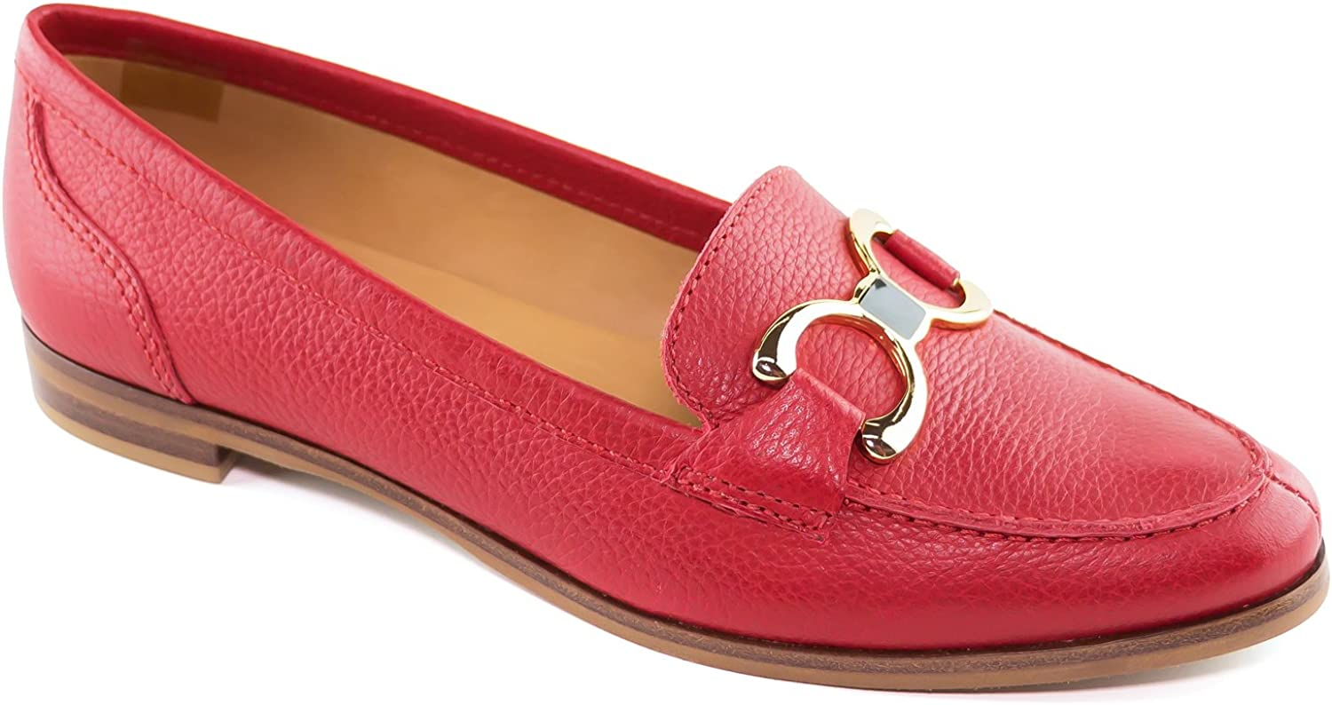 Driver Club USA Women's Genuine Leather Made in Brazil Austin Fashion Comfortable Grainy Buckle Loafer