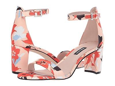 Nine West Pruce Block Heeled Sandal (Orange) Women