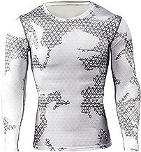 Kootk Herren Langarm Funktionsshirt Thermo Pullover - Männer Compression T-Shirt Base Layer Thermal Tops Gym T-Shirt Oberteile Shirts Funktionswäsche Unterhemden Unterwäsche M - 3XL