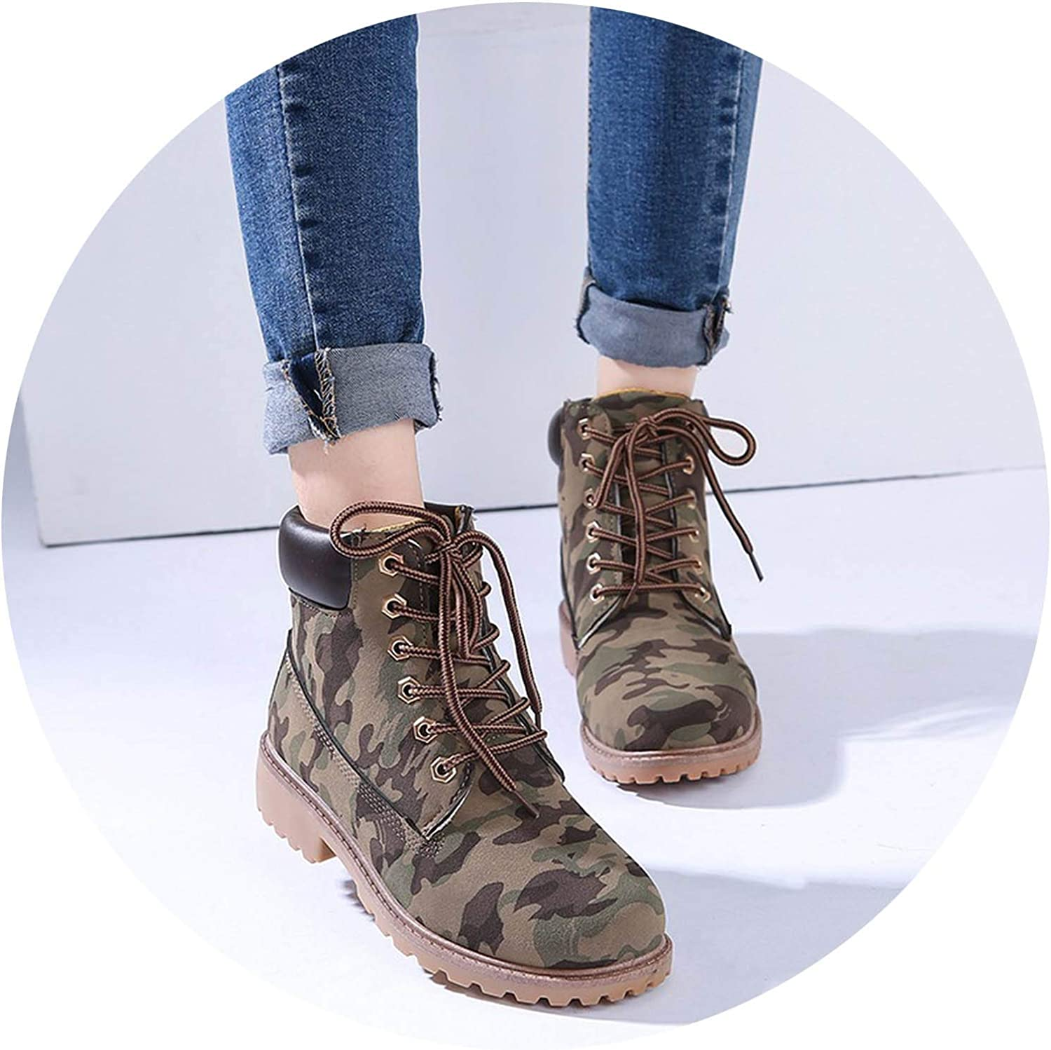 Flower cat 2018 Winter Boots Women Casual shoes Tooling Ankle Snow Boots Plush Warm Women Boots