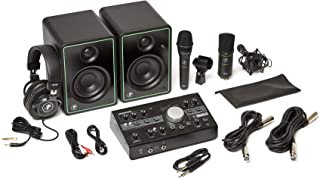 Mackie Studio Bundle with CR3-X monitors, Big Knob Studio Monitor Controller/Interface, EM89D Dynamic Microphone, EM91C Co...