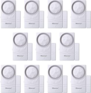 Wsdcam Door and Window Alarm for Home Antitheft Alarm Systems Magnetic Sensor Time Delay Alarm(10-Pack), Loud 110 dB