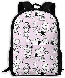 Custom Happy Snoopy Casual Backpack School Bag Travel Daypack Gift