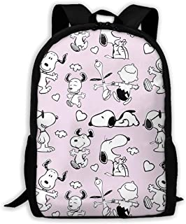 Custom Happy Snoopy Casual Backpack School Bag Travel Daypack Gift