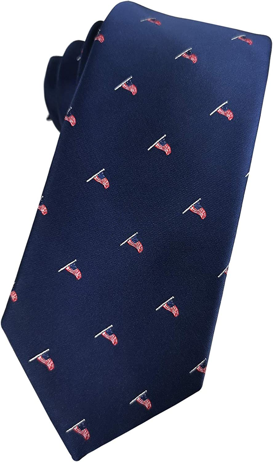 KOOELLE Mens Limited time sale Patriotic Necktie American US Flag St Limited Special Price Stars Eagle