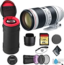 Canon EF 70-200mm f/2.8L is III USM Telephoto Zoom Lens with 64GB Memory Card -International Model