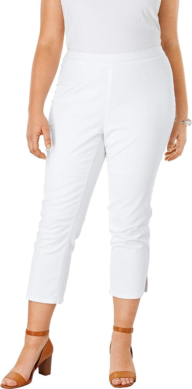 Jessica London Women's Plus Size Curved Hem Crop Jeggings Jeans Legging