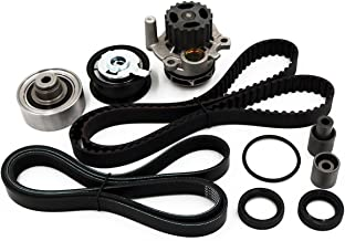 Timing Belt Water Pump Kit fits for 1999 2000 2001 2002 2003 2004 Volkswagen VW Golf Jetta, 1998-2004 Beetle 1.9L DOHC Turbocharged