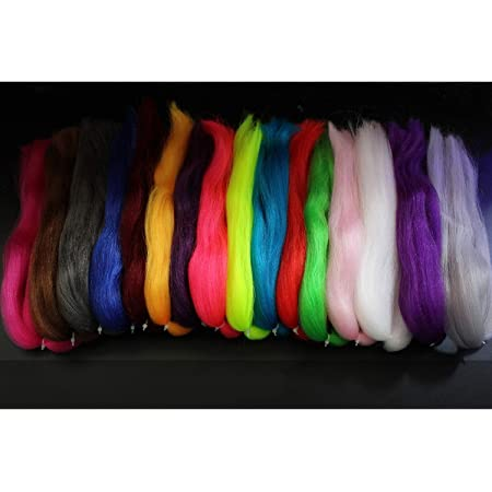 1 Pack Slinky Fiber Positive Synthetic Kinky Hair Slinky Fiber Tying Materials