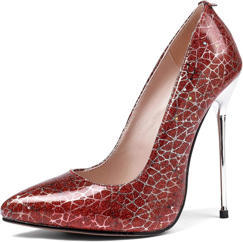 SERAPH MR1523 Damen Pumps, spitze Kappe Stiletto High Heels Party Schuhe