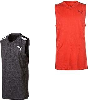 Official Brand Puma BND Tech Sleeveless T Shirt Mens Vest Tops Tank Red Small