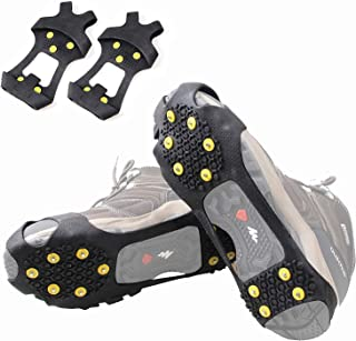 Shaddock Fishing Ice Cleats for Shoes Boots, Ice Cleats Snow Ice Cleats Over Shoe Boots Anti Slip Traction Cleat 10 Studs ...