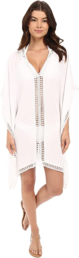 Lace Tunic w/ Lace Inset & Edge Cover-Up