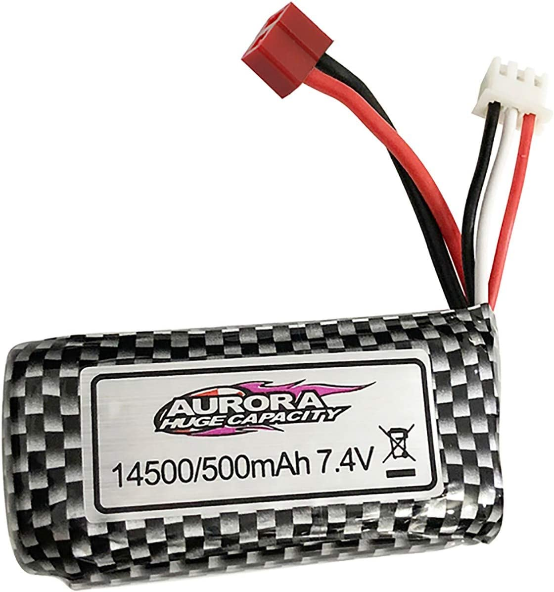 ZSWWang 7.4V 500mAh Lithium Battery 1 16 Limited time cheap sale with Fashion Aurora Compatible