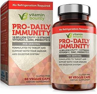 Vitamin Bounty - Immune Ssupport Probiotics + Prebiotics - 10 Strains with Vitamin C and Zinc to Help Immune defenses Naturally