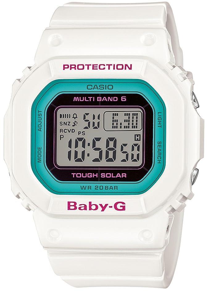 重要性ヘビー短命[カシオ] 腕時計 ベビージー 電波ソーラー BGD-5000-7BJF ホワイト