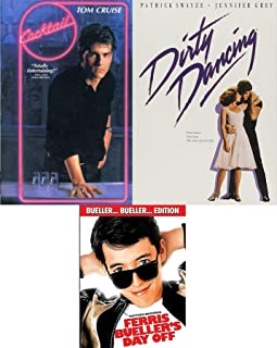 Bars - Dance & School Days - Dirty Dancing & Cocktail Tom Cruise + Ferris Buellers Day Off 80's Triple Feature 3-DVD Set