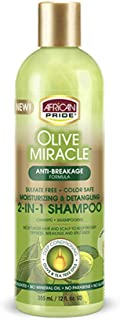 African Pride Olive Miracle Anti-Breakage Formula 2-In-1 Shampoo & Conditioner, 16oz (473ml)