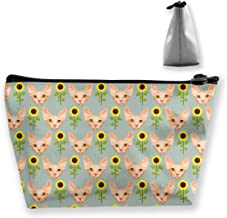 Women Canadian Hairless Sphynx Cat Toiletry Bag Pouch Multipurpose Travel Makeup Train Case Fashion Zipper Handbag Large Capacity for Makeup Brushes Jewelry Travel