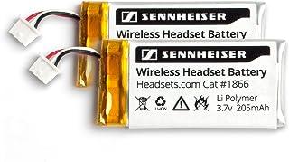 Genuine Sennheiser Replacement Rechargeable Battery for OfficeRunner Wireless Headset DW Office DW Pro1 DW Pro2 SD Office SD Pro1 SD Pro2 MB Pro series Li Polymer 205mAh (2 Pack)