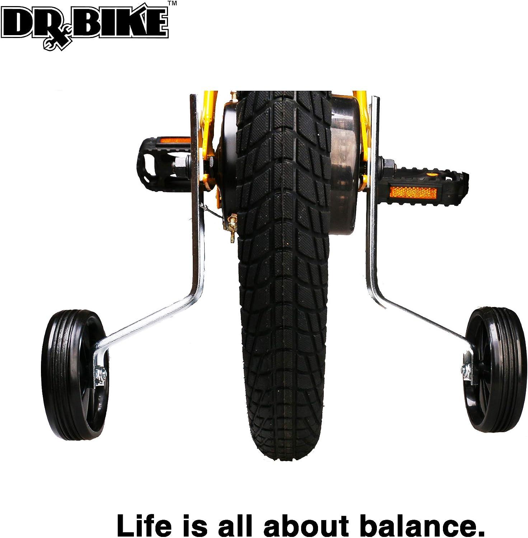 Kids Bike Stabilizer 1 Pair DRBIKE Adjustable Kids Bike Training Wheels for 12 14 16 18 20 Kids Bike