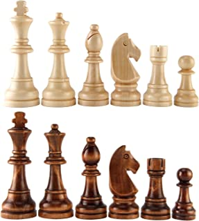 AMEROUS Chess Pawns Wooden Chessmen with 4.55