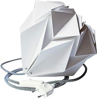 Lámpara portátil de origami blanca hecha a mano