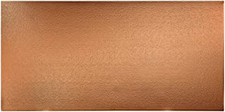 Fasade - Hammered Polished Copper Decorative Wall Panel - Fast and Easy Installation (4' X 8' Panel)