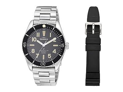 Shinola Detroit 42 mm Duck 3H (Black/Silver) Watches