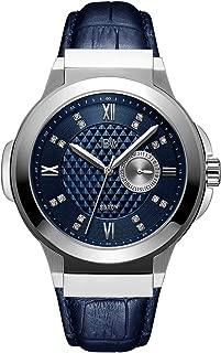 JBW Mens Quartz Watch, Analog Display and Leather Strap J6373B