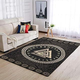 OwlOwlfan Grand tapis de sol viking durable pour intérieur ou extérieur, maison, cuisine, café, bureau, blanc 122 x 183 cm